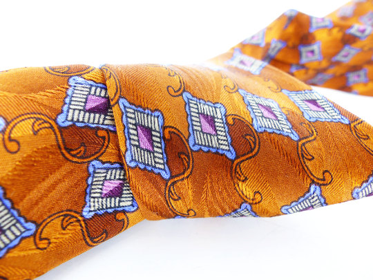 Gorgeous unique silk ties for every personality and style. Lavender and burnt tangerine.