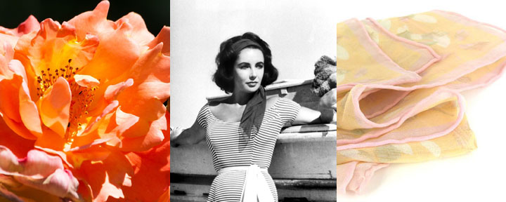 Beautiful selection of women's silk scarfs: from Mod POP art styles to classic girly silk chiffon with sweet rolled hems.
