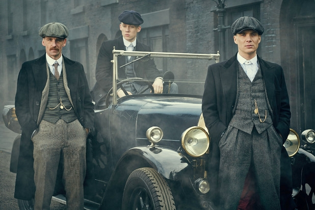 Fall waistcoats and collar bars, The Peaky Blinders look.