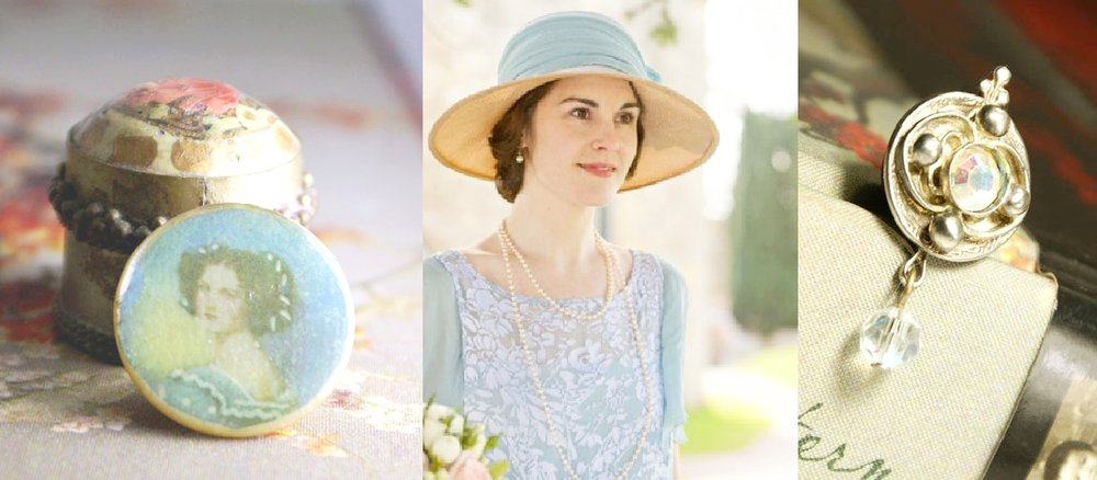"Downton Abbey femininity. Just a little touch to your sweater or scarf. Mag TAK ""Chick Magnets"""