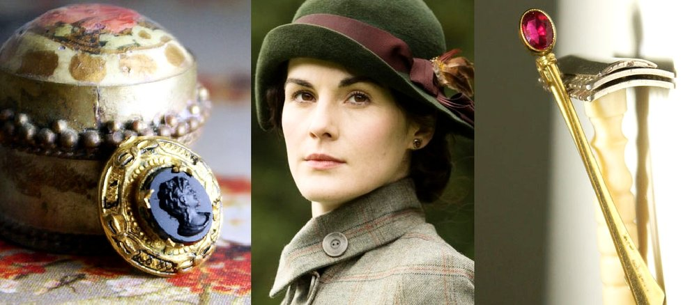 Cameos and Antique stick pins. A perfect way to add a dab of Downton into your day