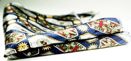 Textured silk pocket square