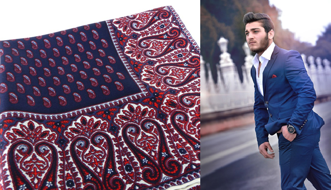 Silk Paisley pocket square from  Modern Renaissance Man