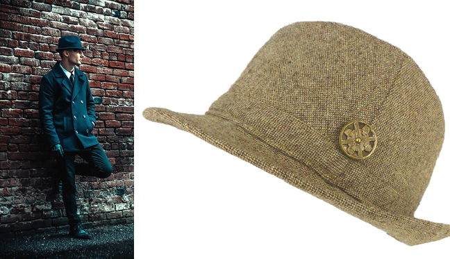 Men's herringbone wool country weekend hat with Mag TAK from  Modern Renaissance Man