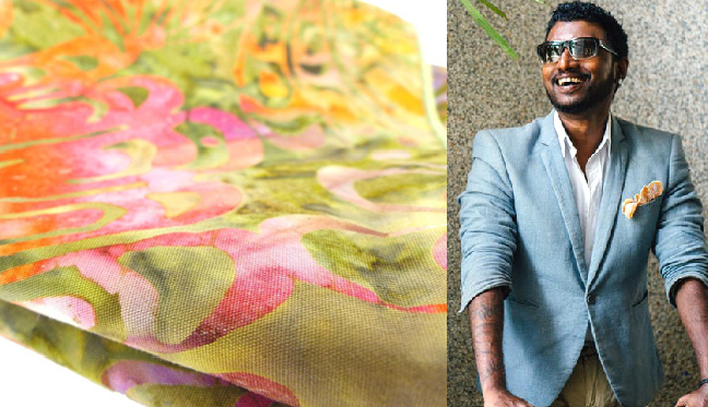 Summer batik cotton pocket square, informal with a pop of color from  Modern Renaissance Man