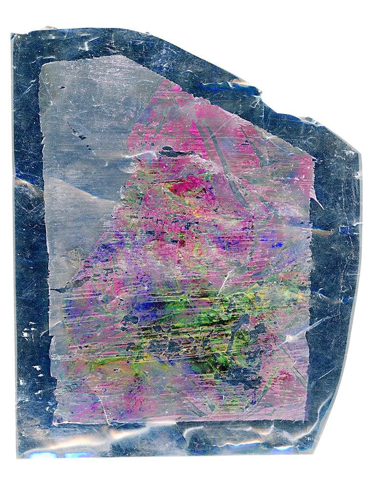 "Inkjet on mylar, 21.6cm x 16.5cm (8.5"" x 6.5""), 2012"