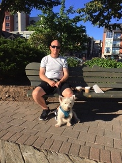 Coffee with these two during our last morning in Halifax.