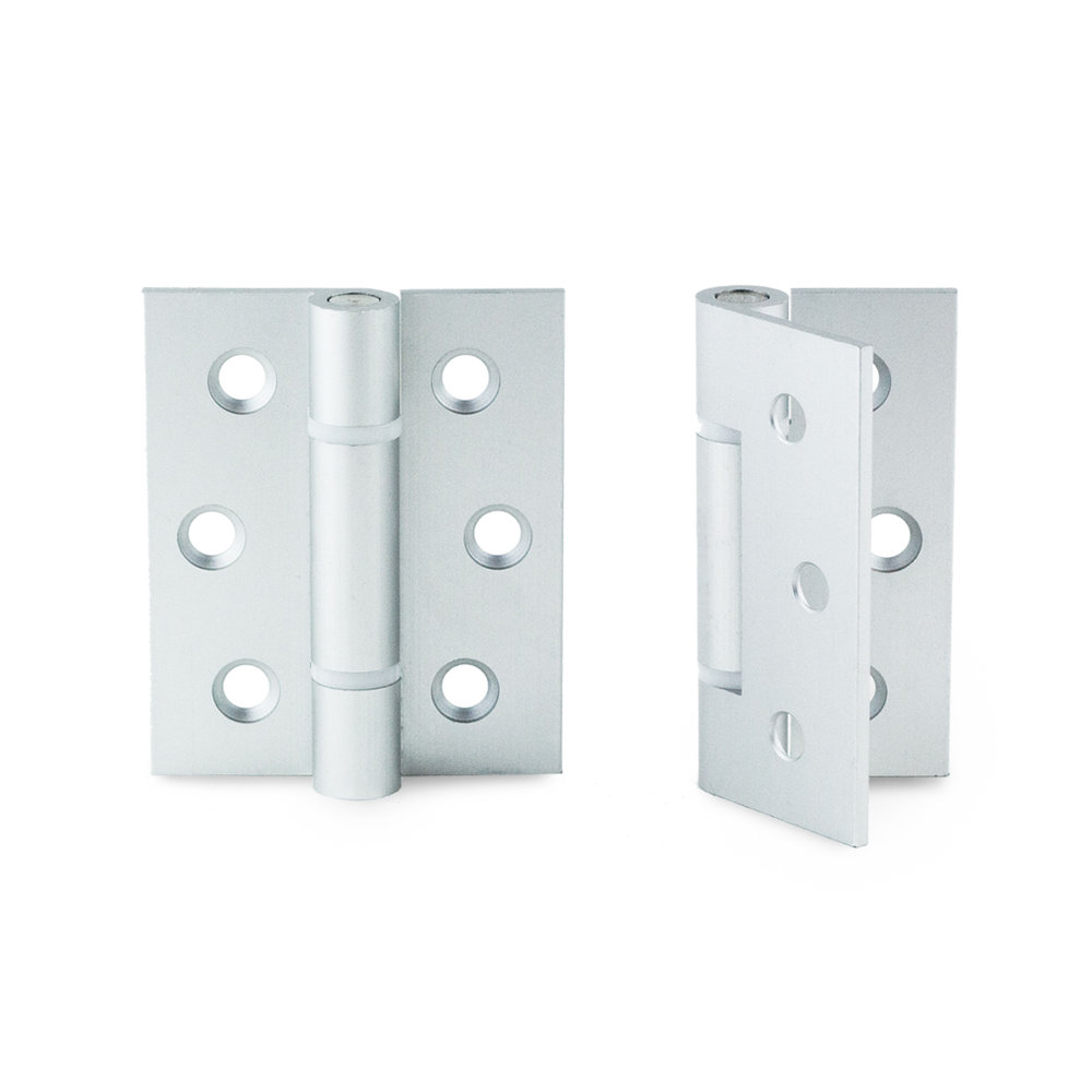 Aluminium Hinge. 3 per door for reinforced support.
