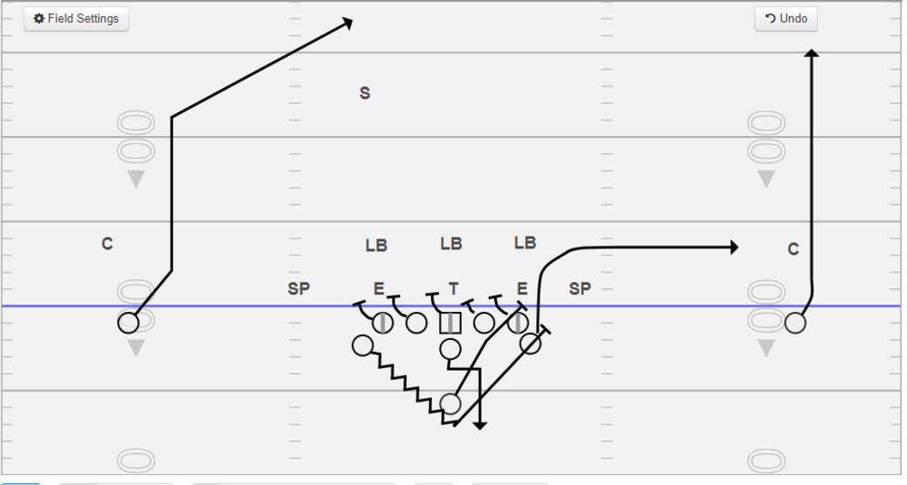 312 Sideline vs. 3-3 with full slide protection