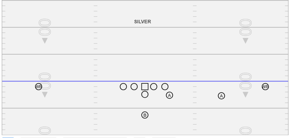 Silver - We use this formation vs. Man coverage teams or teams that rotate their safeties and to help us with our Run & Shoot Passing concepts.  If we wanted the formation flipped we would just call it Silver Flip.