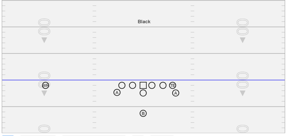 Black - We use this formation at my current school as our base.  We also use it to manipulate Odd front defenses.  We have found this formation really simplifies our blocking rules for IV vs. all fronts.