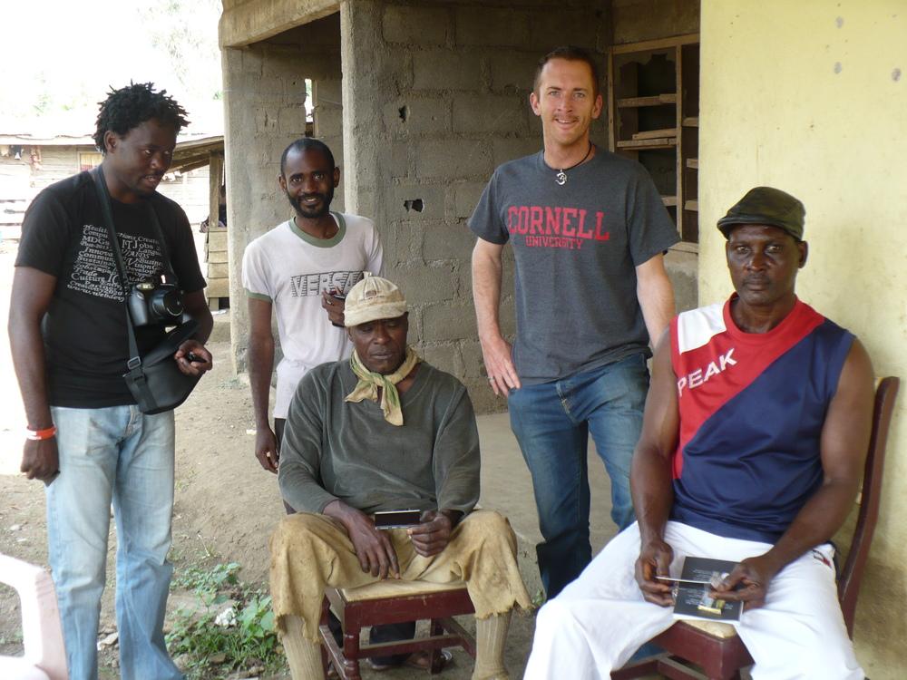Meeting with chiefItuka Moses Itoe (right)