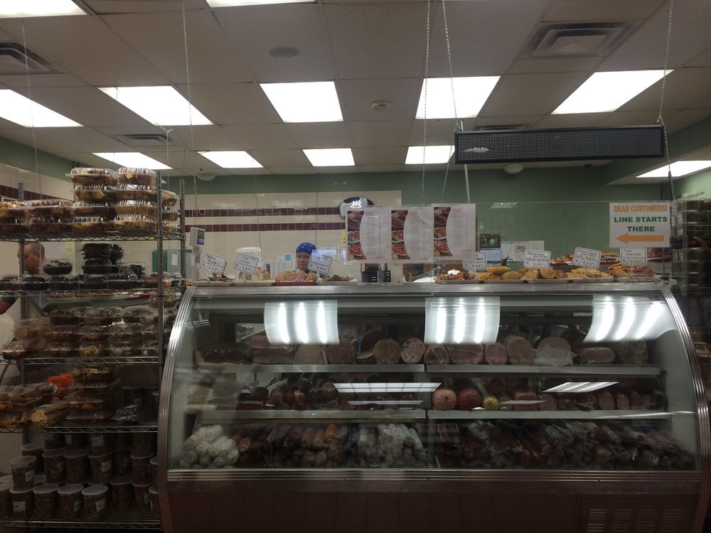 Deli counter inside of the Bazaar on Cambridge, quite perfect