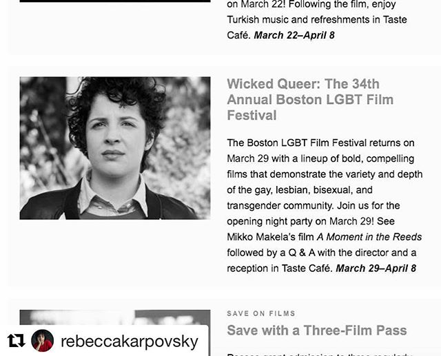 "On Boston MFA's ""What to Watch Next Month"" ...PINSKY showing at @wickedqueer on April 6!"