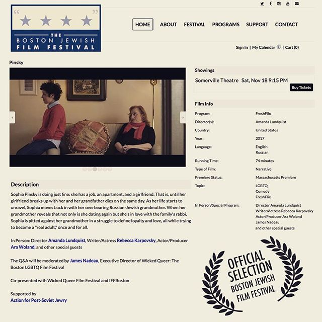 @bostonjewishfilmfestival here we come!! Join the whole lot of us this Saturday night Nov. 18 @ 915pm. Somerville Theatre. QandA to follow.