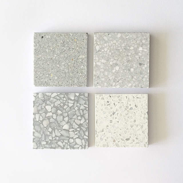 Terrazzo || Now thinking terrazzo tiles from @signorinotilegallery for bathroom project. #decisions