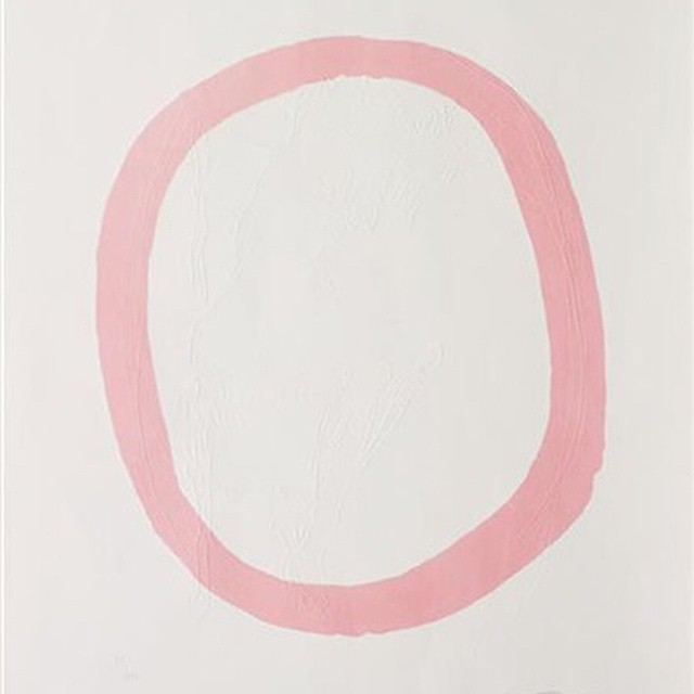 Nudo Rosa, 1967 by Lucio Fontana || Welcoming Baby C.C... soft pinks on my mind.