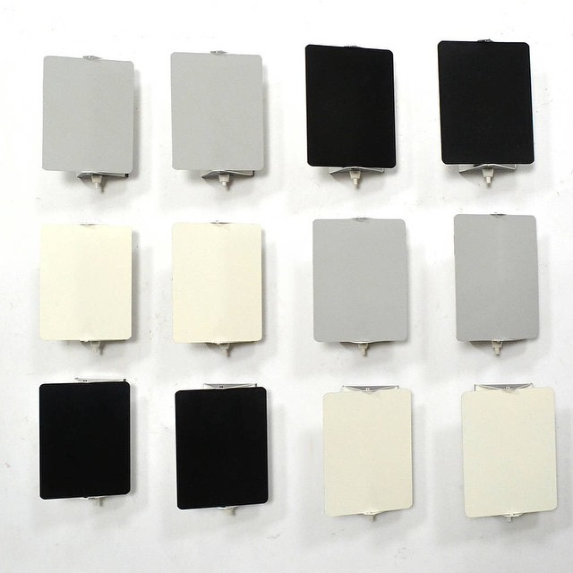 Set of 12 CP-1 wall lamps by Charlotte Perriand || Brilliant minimal design. Via @1stdibs