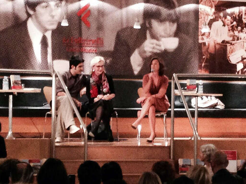 Photo: @LaSilviaR via Twtter (Oct 17, 2013): @LaSilviaR: @LizStrout and @dariabig talk about The Burgess Boys - Good literature times @LaFeltrinelli pic.twitter.com/AYh6eJ29E9