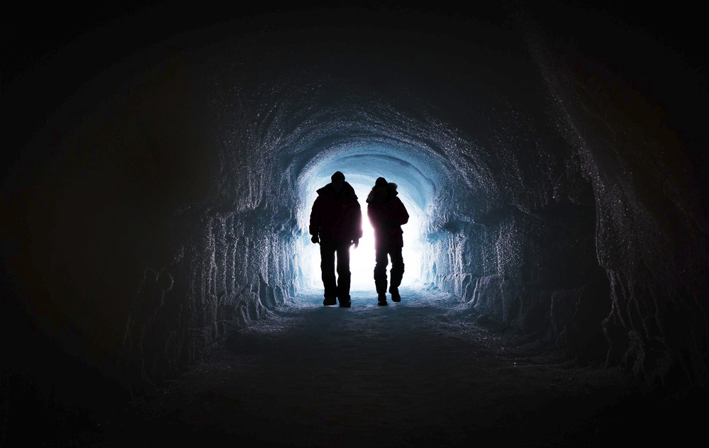 Bill Nye and Jim White Walk Into Climate Drilling Cave - B.Hall.jpg