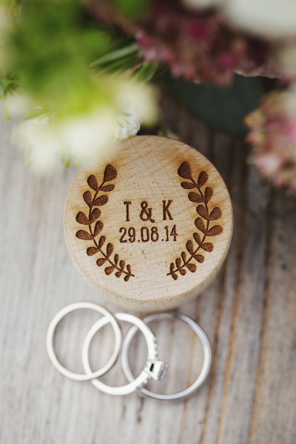 Personalised Wooden Ring Box from Bespoke Laser UK