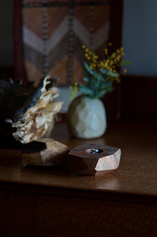 Australian Silky Oak Wood Ring Box from King Secret Sharer