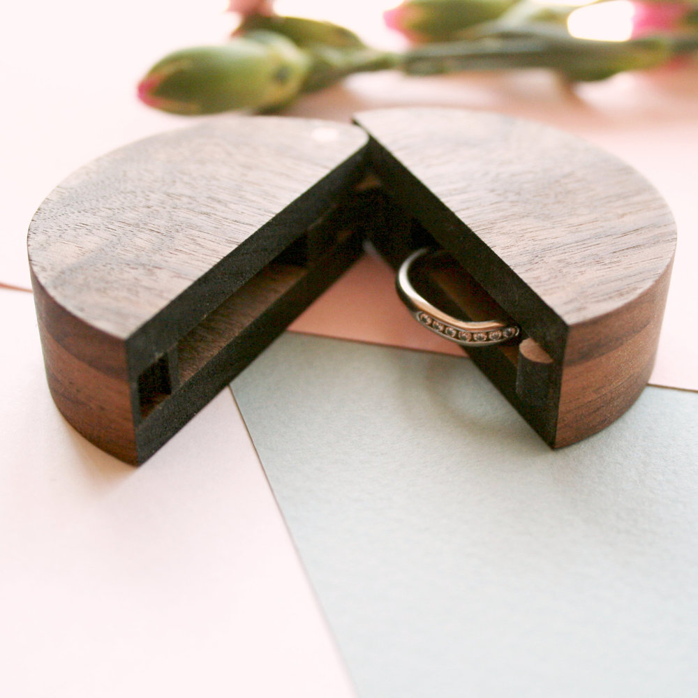 Round Wooden Ring Box from Wood Paper Scissors