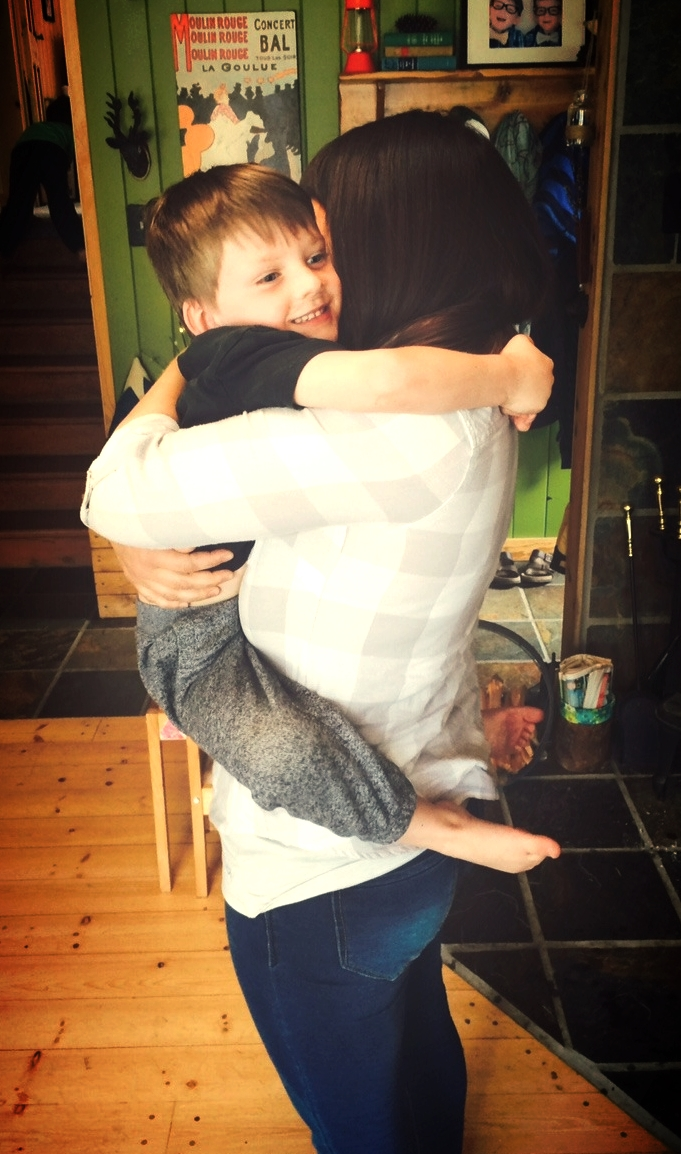 Witnessing a beautiful hug between my friend and one of her loving sons.