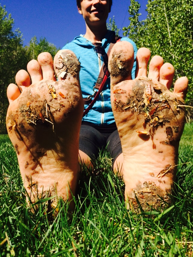 My feet after a glorious barefoot forest walk!