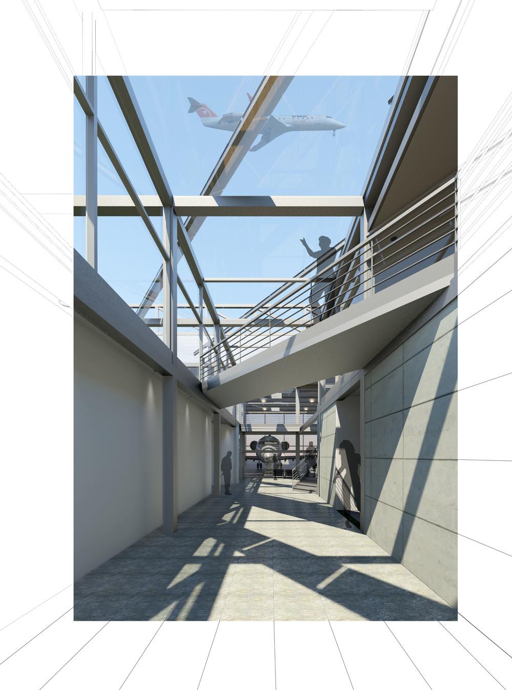 Atrium to Hangar