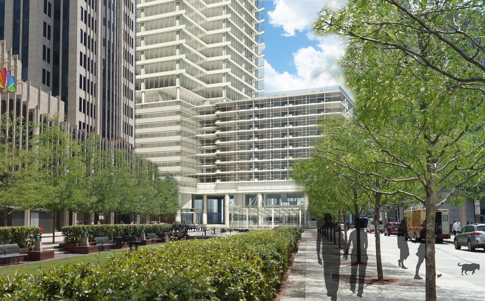 Cityfront Plaza Approach