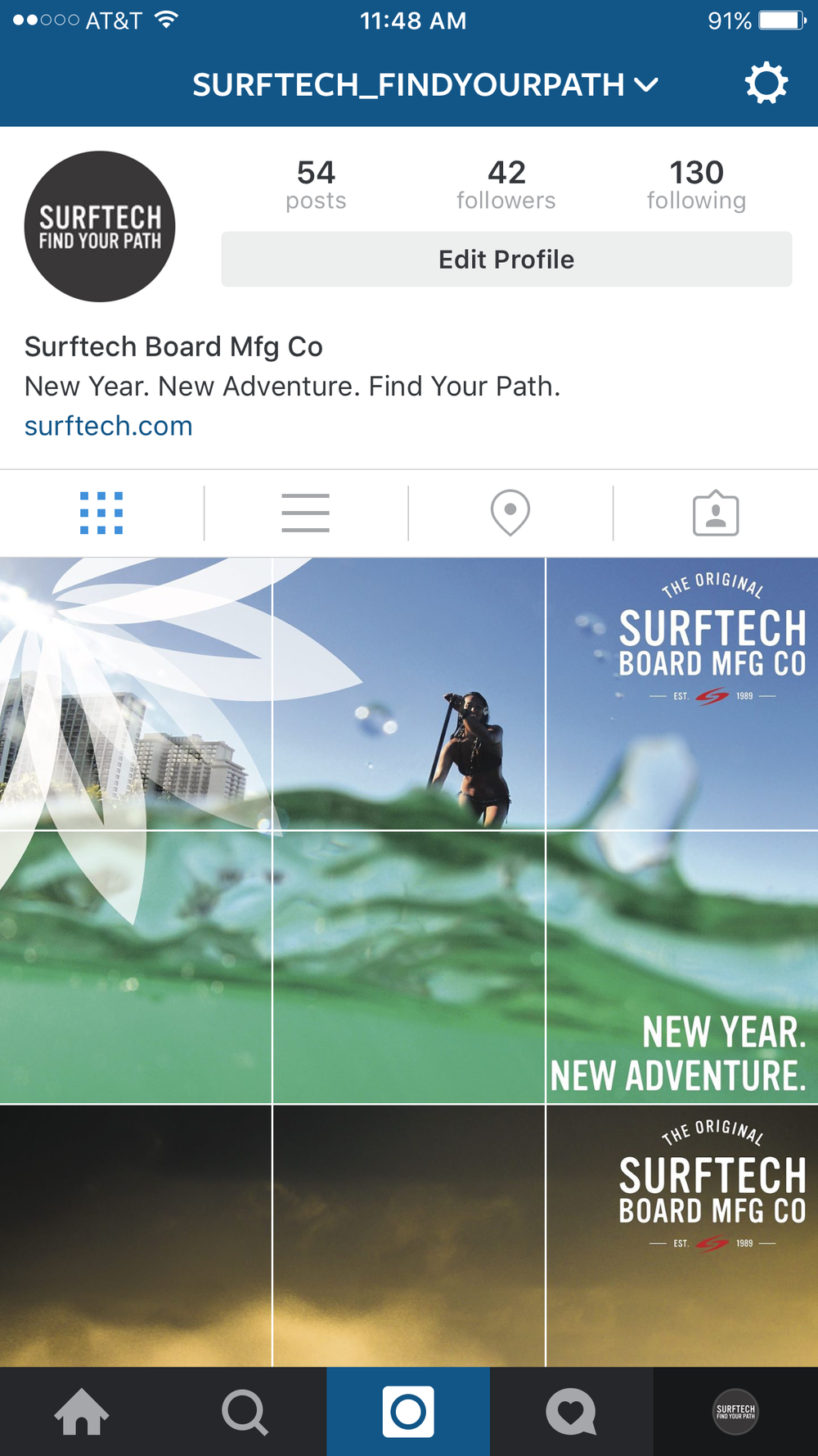 ACCOUNT FOR SURFTECH FIND YOUR PATH CAMPAIGN