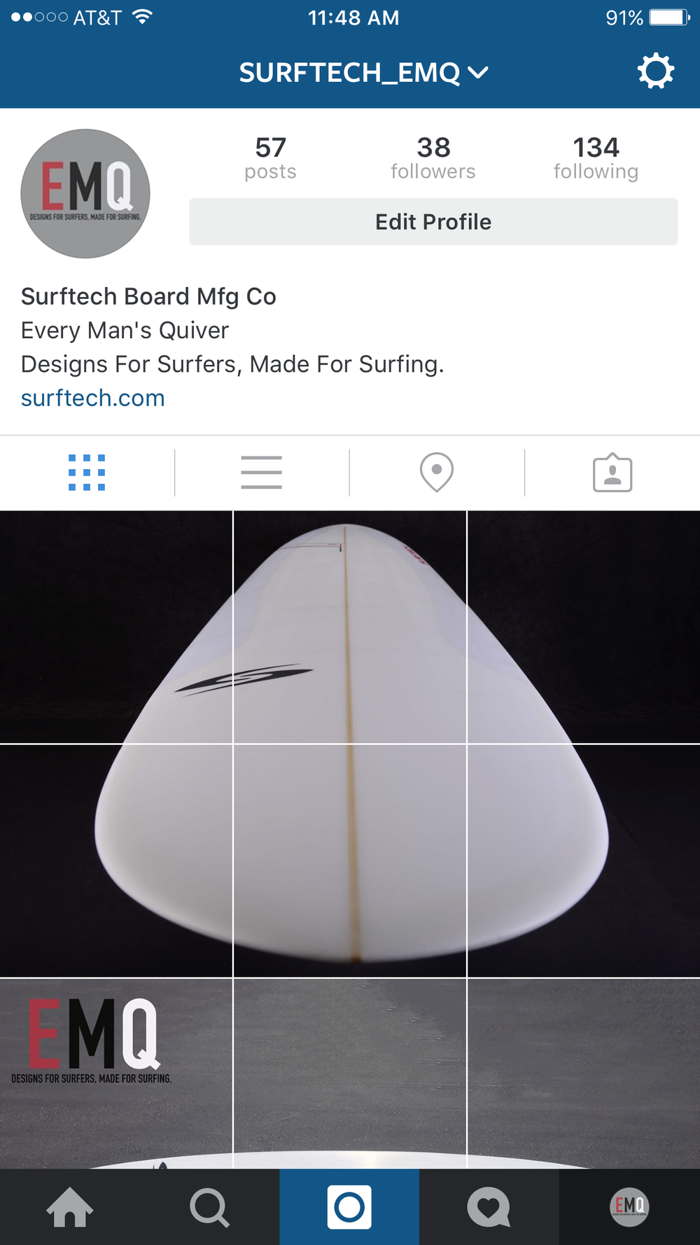 ACCOUNT FOR SURFTECH EVERY MAN'S QUIVER