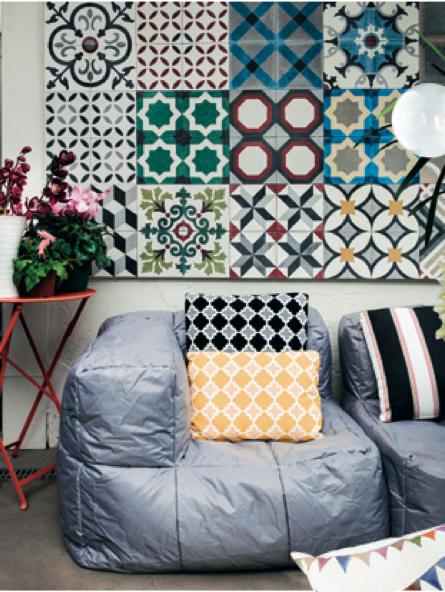 Encaustic Cement tiles and Bourkeshire Interiors were featured in Vogue Living