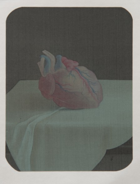 Hao Liang 郝量, Dissection Series-5 移用解剖学-5, Ink and color on silk 绢本重彩, 17.5 x 14 cm