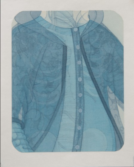 Hao Liang 郝量, Dissection Series-6 移用解剖学-6, 2011, Ink and color on silk 绢本重彩, 17.5 x 14 cm