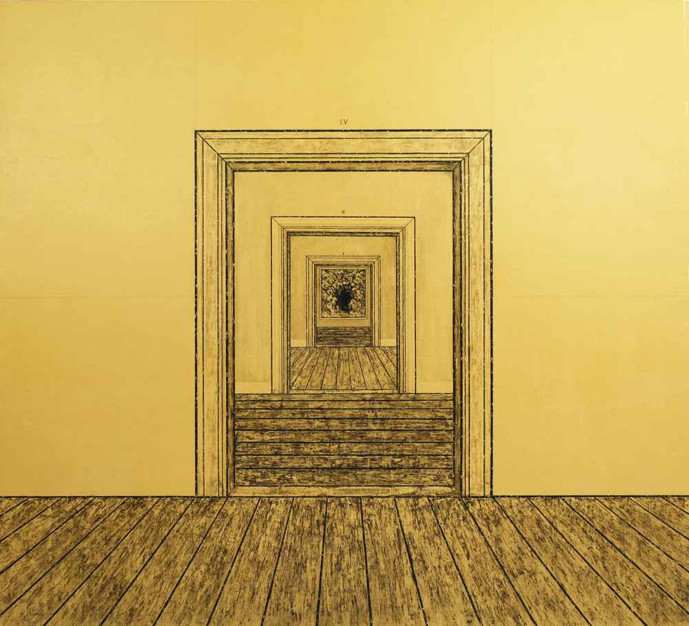 Ni Youyu 倪有鱼, Four Doors 四重门, 2012, Acrylic on canvas 布面丙烯, 190 x 210 cm