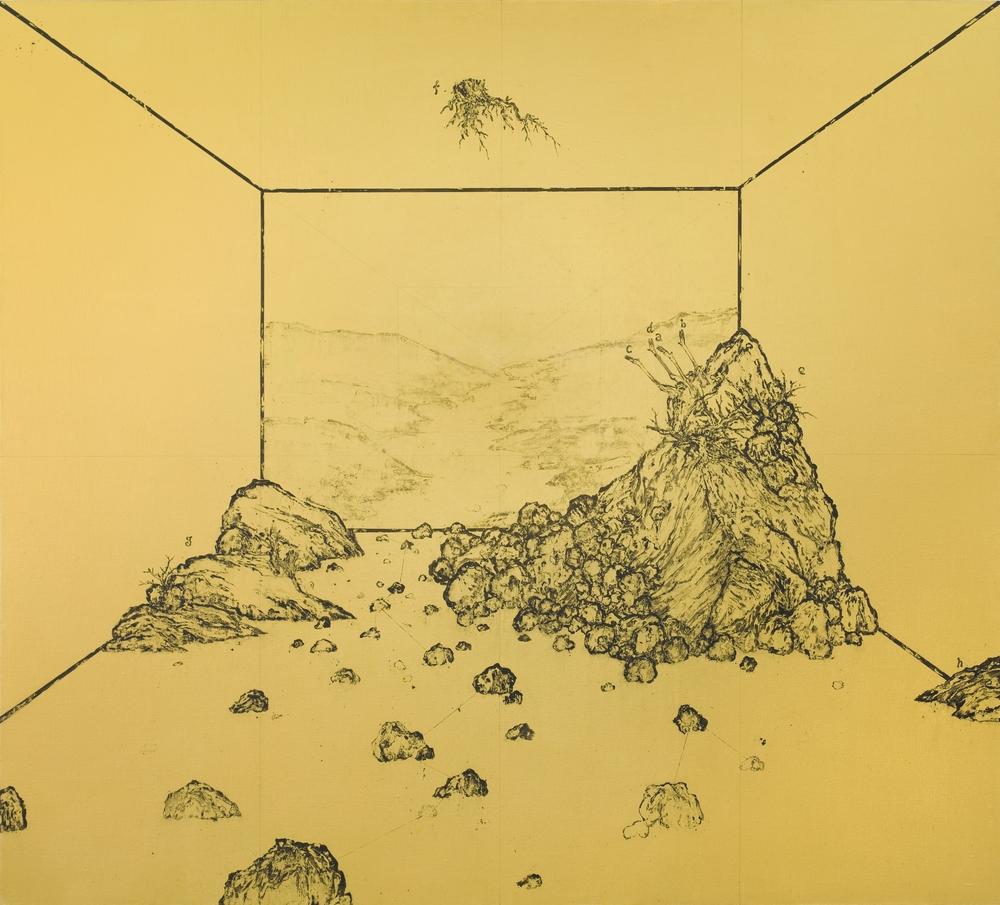 Ni Youyu 倪有鱼, River 河流, 2011, Acrylic on canvas 布面丙烯, 190 x 210 cm