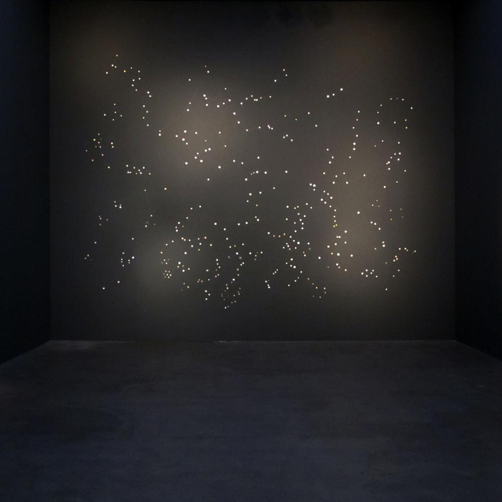 Ni Youyu 倪有鱼, Galaxy 银河, 2008 - 2012, Mini painting on metal, Installation 金属表面微型绘画, 装置, size variable 尺寸可变