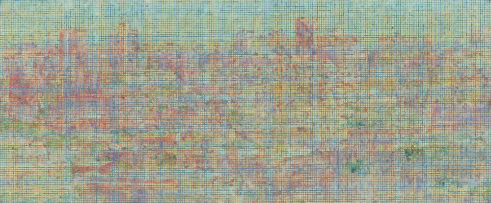 Peng Jian 彭剑, Ban No.1 止境之一, 2010, color on paper 纸本设色, 112 x 74 cm
