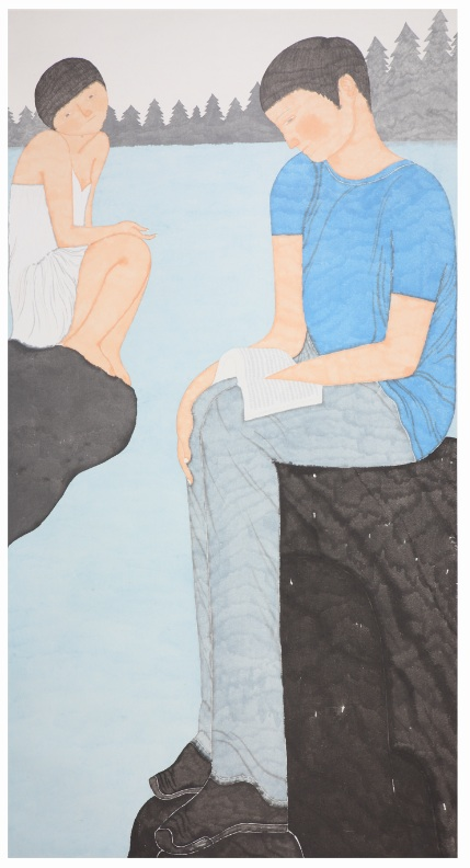 Liu Qi 刘琦, North 北方, 2009, Ink and color on paper 纸本水墨, 180 x 96 cm