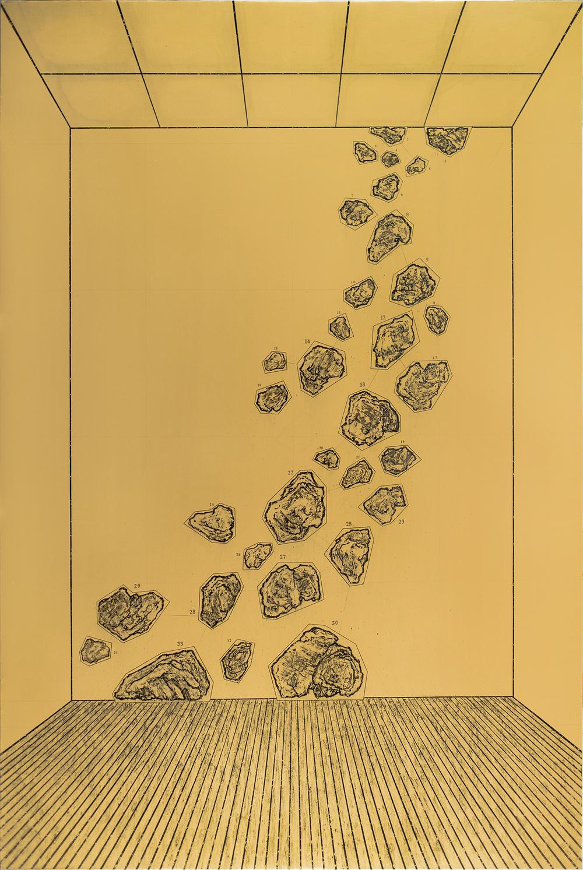 Ni Youyu 倪有鱼, Landslip 山崩, 2013, Acrylic on canvas 布面丙烯, 300 x 200 cm