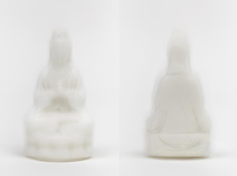 Ni Youyu 倪有鱼, 观音叠影 Guan Yi Double Shadow, 2013, Conceptual Art C-Print 观念摄影 艺术微喷, 130 x 87.5 cm (Diptych 双联)