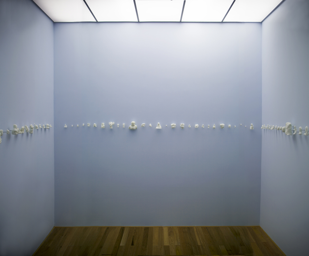 Ni Youyu 倪有鱼, Zilch 泡影, 2013, 100 pieces of soap replicas of ancient sculptures 100尊手工皂古典残雕, Installation 空间装置, Dimension variable 尺寸可变