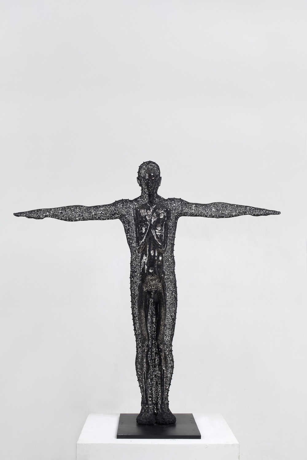 Zheng Lu 郑路, Myself 知己, 2012, Stainless steel and metal 不锈钢、铁, 139 x 53 x 140 cm