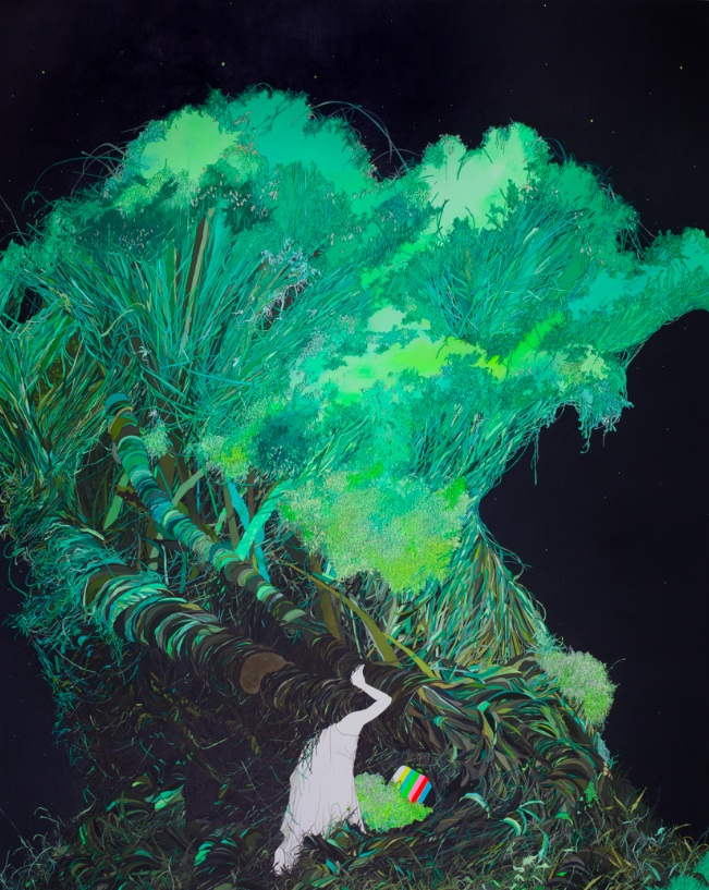 Zhou Fan 周范, Mushroom 蘑菇, 2011, Acrylic on canvas 布面丙烯, 250 x 200 cm