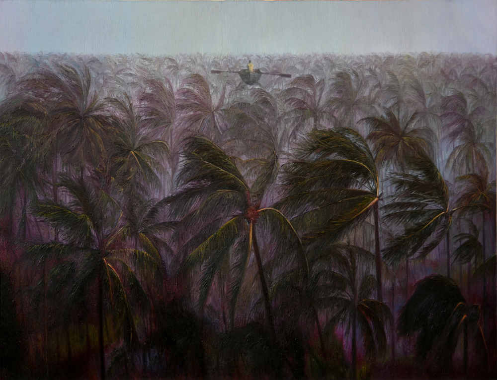 Shang Chengxiang 商成祥, Breeze Blowing in the Wind 梦中吹过的风, 2013, Oil on canvas 布面油画, 145 x 160 cm
