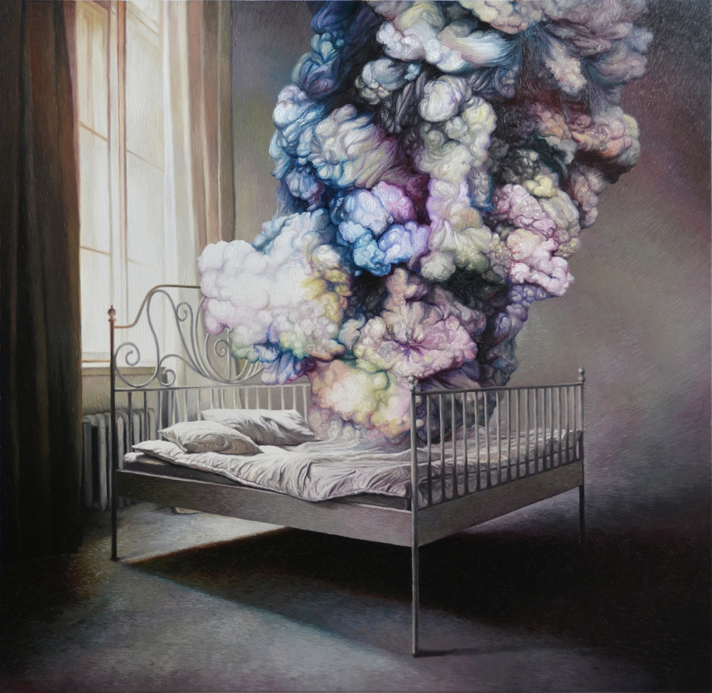 Shang Chengxiang 商成祥, A Start From the Mist 从迷雾中开始, 2013, Oil on canvas 布面油画, 180 x 180 cm