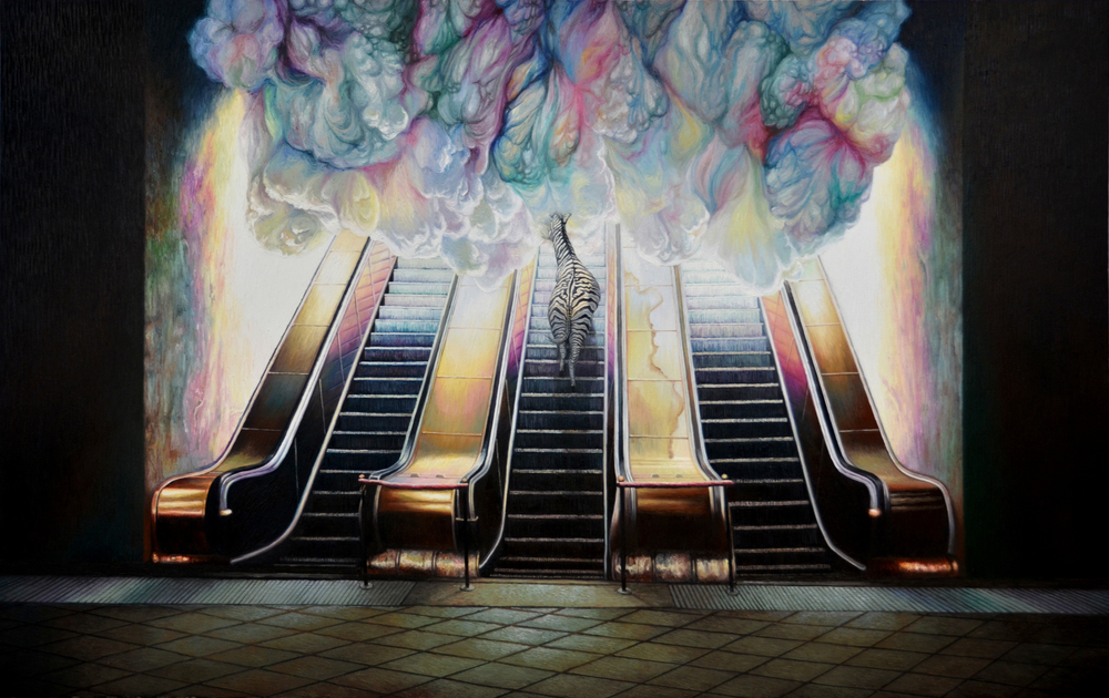 Shang Chengxiang 商成祥, Journey in the Clouds No.1 云图系列之一, 2014, Oil on canvas 布面油画, 160 x 240 cm