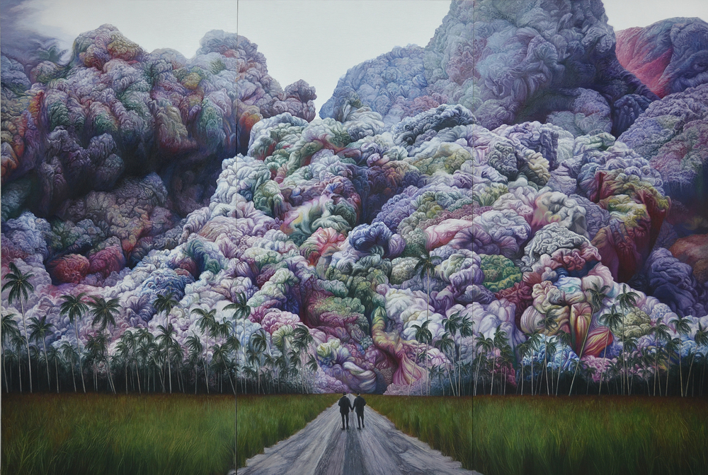 Shang Chengxiang 商成祥, Journey in the Clouds No.3 云图系列之三, 2014, Oil on canvas 布面油画, 350 x 510 cm (3 panels)